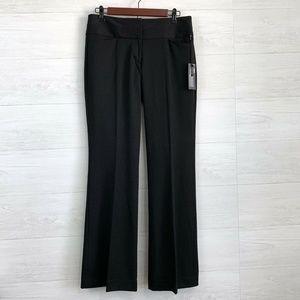 Express Black Editor Flat Front Flare Leg Trouser